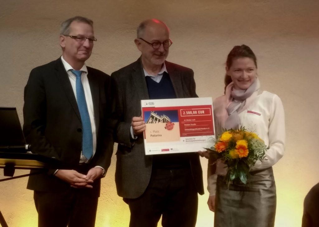 Pattarina - die Schnittmuster-App - gewinnt den Gründungspreis SCS